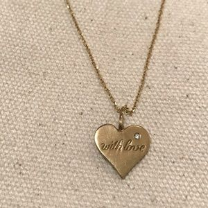 Jewelry - 14kt heart and diamond necklace